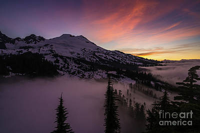 Table Mountain Photograph - Mount Baker Sunrise Peaceful Morning by Mike Reid