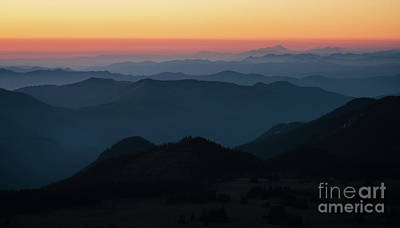 Pilchuck Photograph - Mount Baker Sunset Landscape Layers by Mike Reid