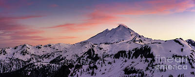 Table Mountain Photograph - Mount Baker Sunset Panorama by Mike Reid