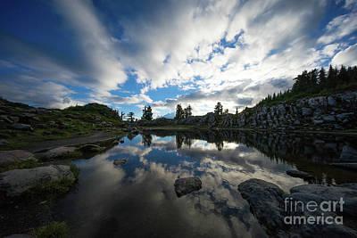 Photograph - Mount Baker Tarn Cloudscape by Mike Reid