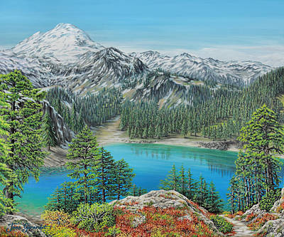 Painting - Mount Baker Wilderness by Jane Girardot