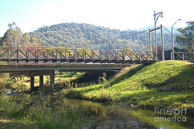 Photograph - Mount Beauty Victoria The Bridge by Joy Watson