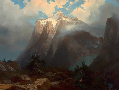 Yosemite Painting - Mount Brewer From King's River Canyon - California by Mountain Dreams