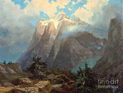 Painting - Mount Brewer Kings Canyon by Reproduction