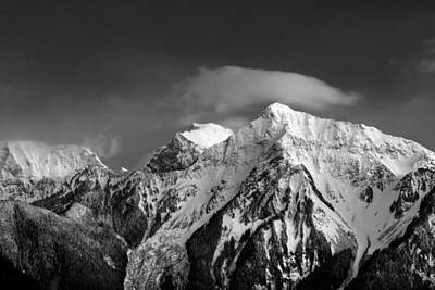 Harrison Hot Springs Wall Art - Photograph - Mount Cheam Black And White by Michael Russell
