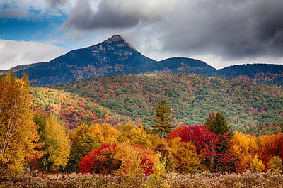 Peak Fall Colors On Mount Chocorua Art Print