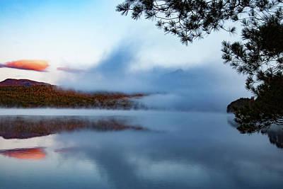 Art Print featuring the photograph Mount Chocorua Peeks Above The Fog by Jeff Folger