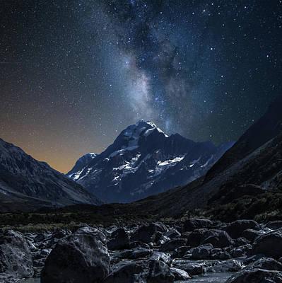 Mount Cook At Night Art Print