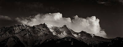 Photograph - Mount Currie With Clouds by Peter V Quenter