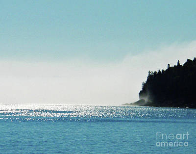 Photograph - Mount Desert Island Maine Fogged Waters Of The Atlantic by Lizi Beard-Ward