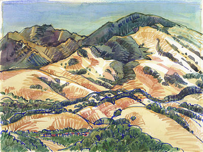 Painting - Mount Diablo From Briones, Springhill Road by Judith Kunzle