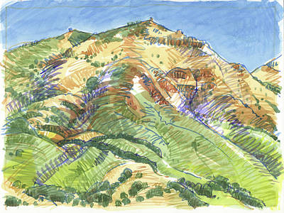 Painting - Mount Diablo From Curry Valley Ridge by Judith Kunzle
