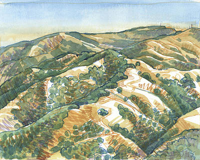 Painting - Mount Diablo, Round Top Viewpoint by Judith Kunzle