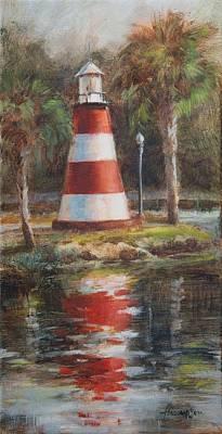 Mount Dora Lighthouse Art Print by Tracie Thompson