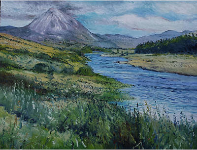 Painting - Mount Errigal Co. Donegal Ireland. 2016 by Enver Larney