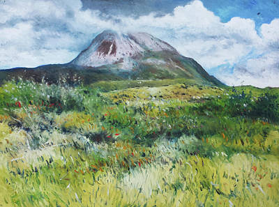 Painting - Mount Errigal County Donegal Ireland 2016 by Enver Larney