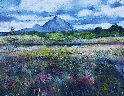 Painting - Mount Errigal From Dore Ireland 2017 by Enver Larney