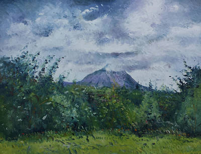 Painting - Mount Errigal From Gweedore Ireland 2017 by Enver Larney