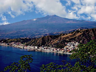 Photograph - Mount Etna Landscape by Anthony Dezenzio