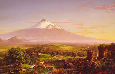 Mountain Painting - Mount Etna by Thomas Cole