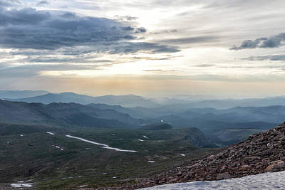 Photograph - Mount Evans View On A Hazy Morning by Tony Hake
