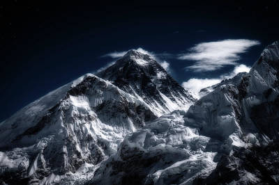 The Champagne Collection - Mount Everest in Moonlight by Yuka Ogava