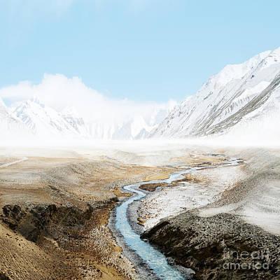 Print featuring the photograph Mount Everest  by Setsiri Silapasuwanchai