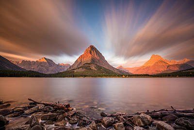 Photograph - Mount Grinnell Sunrise by Pierre Leclerc Photography