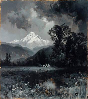 Mount Grohman Art Print
