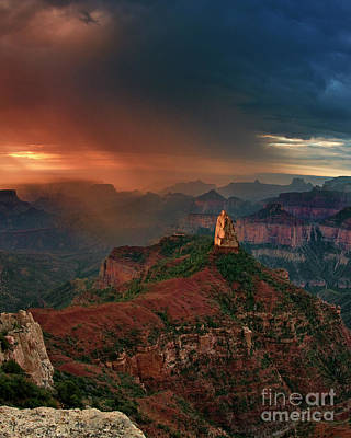 Photograph - Mount Hayden North Rim Grand Canyon Arizona by Dave Welling