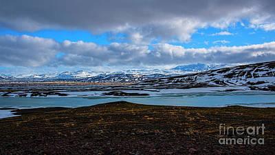 Photograph - Mount Hekla Across Lake Bjarnalon by Chris Thaxter
