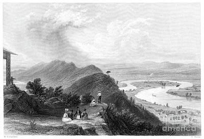 Drawing - Mount Holyoke, 1837.  by Granger