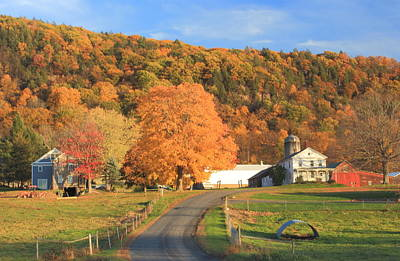 Photograph - Mount Holyoke Range And Longview Farm In Autumn by John Burk