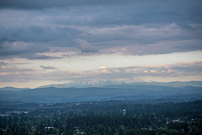 Photograph - Mount Hood At Dusk by Anthony Doudt