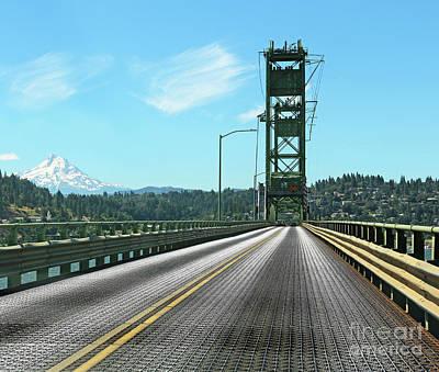 Photograph - Mount Hood Bridge  3443 by Jack Schultz