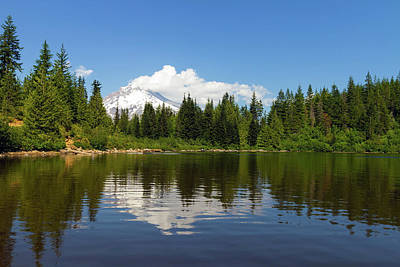 Photograph - Mount Hood By Mirror Lake by David Gn
