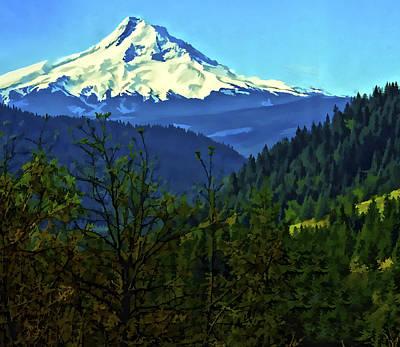 Mt Hood Digital Art - Mount Hood by Dale Stillman