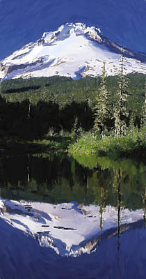 Mount Hood Painting - Mount Hood - Id 16217-202753-6226 by S Lurk