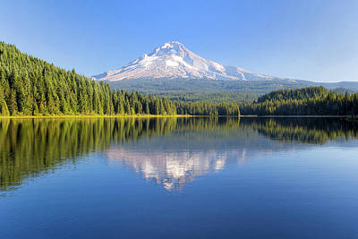 Photograph - Mount Hood On A Sunny Day by David Gn