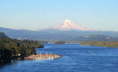 Photograph - Mount Hood Over The Columbia River by Karen Molenaar Terrell