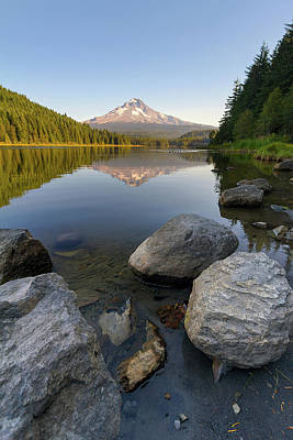 Oregon Photograph - Mount Hood Reflection At Trillium Lake by David Gn