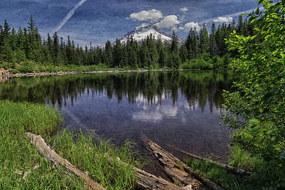 Photograph - Mount Hood Reflection In Mirror Lake Wa 050505 by Greg Kluempers