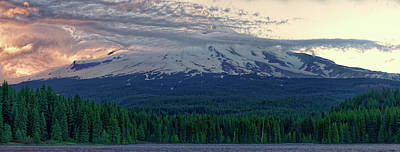 Photograph - Mount Hood Sunset by Jonathan Davison