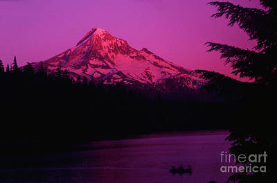 Photograph - Mount Hood Sunset On Lost Lake by Rick Bures