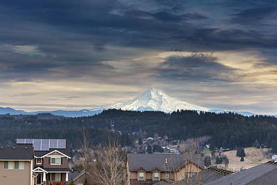 Photograph - Mount Hood View In Luxury Neighborhood by Jit Lim