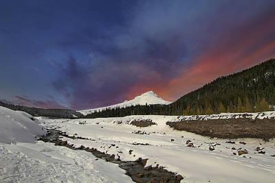 Photograph - Mount Hood Winter Wonderland by David Gn