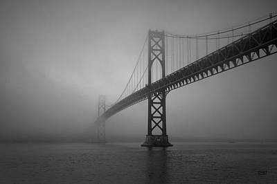 Photograph - Mount Hope Bridge Bw by David Gordon