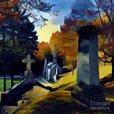Photograph - Mount Hope Cemetery by Jodie Marie Anne Richardson Traugott          aka jm-ART