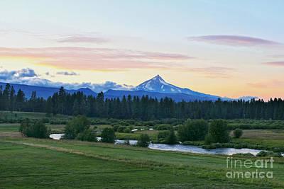 Photograph - Mount Jefferson At Sunset by Catherine Sherman