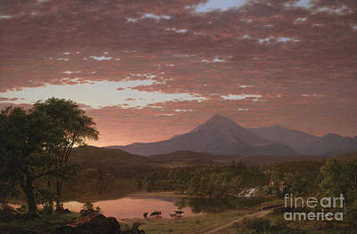 Mount Katahdin Art Print by Frederic Edwin Church